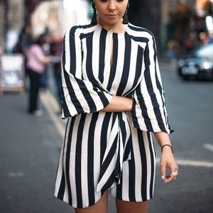 TopShop Humbug Stripe Knot Front Shift Dress